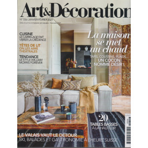 Art &  Decoration - n. 556 -gennaio 2021 - mensile - in lingua francese