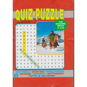 Quiz -  Puzzle - n. 170 - bimestrale - febbraio - marzo 2021 - 196 pagine