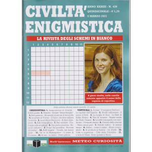 Civilta' Enigmistica - n. 439 - quindicinale -5 marzo  2021