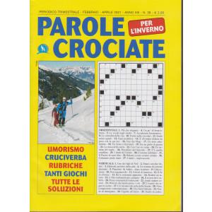 Parole Crociate per l'inverno - n. 39 - trimestrale - febbraio - aprile 2021