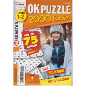 Super Ok Puzzle 2000 - n. 4 - livello 1-2 - gennaio - febbraio 2021- bimestrale