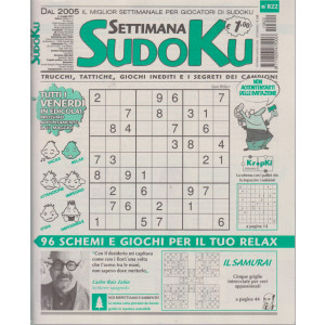 Settimana Sudoku - n. 822- settimanale -14 maggio  2021