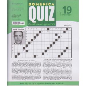 Domenica Quiz - n. 19- settimanale -13  maggio  2021