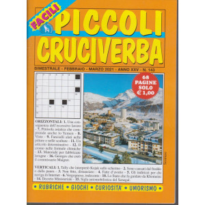 Piccoli Cruciverba - n. 143 - bimestrale - febbraio - marzo 2021 - 68 pagine