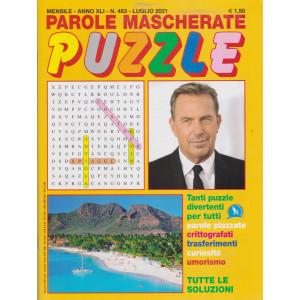 Parole mascherate puzzle - n. 483 - luglio     2021 - mensile