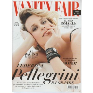 "VANITY FAIR - Settimanale n. 20 - 25 Maggio 2016 ""Federica Pellegrini"""