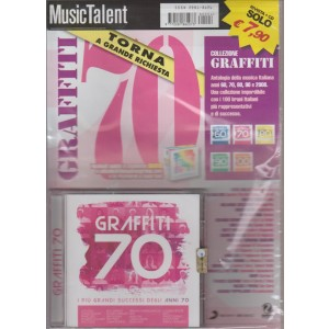 GRAFFITI  70. I PIU' GRANDI SUCCESSI DEGLI ANNI 70.  RIVISTA + CD.