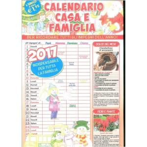 Calendario Casa e Famiglia 2017 cm. 29 x 46