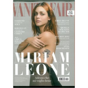 "VANITY FAIR - settimanale 42 26 Ottobre 2016 ""MIRIAM LEONE"""