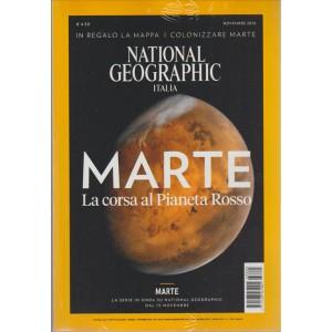 """National Geographic ITALIA-mensile novembre 2016 """"Marte la corsa al Pianeta rosso"""""""