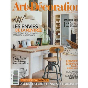 ART & DECORATION. N. 516. SETTEMBRE 2016.