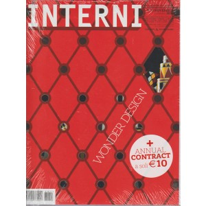 INTERNI N. 11. NOVEMBRE 2016.  + INTERNI. ANNUAL CONTRACT 2016.