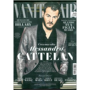 "Vanity Fair  settimanale n. 45 - 16Novembre 2016 "" Alessandro Cattelan"""