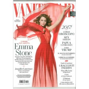Vanity Fair  - settimanale n. 1 -11 Gennaio 2017 Emma Stone