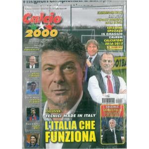 Calcio 2000  Bimestrale n. 226 Febbraio 2017 + Album Calciat.Panini 2016/17