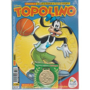 TOPOLINO n. 3168 con medaglia celebrativa - 16 Agosto 2016