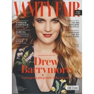 """Vanity Fair  settimanale n. 5 - 8 Febbraio 2017 """"Drew Barrymore"""""""