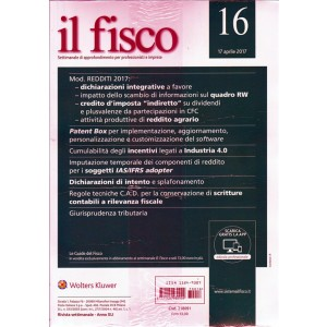 Il Fisco - Settimanale n. 16 - 17 Aprile 2017