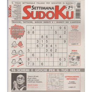 Settimana Sudoku n. 612 - 5 Maggio 2017