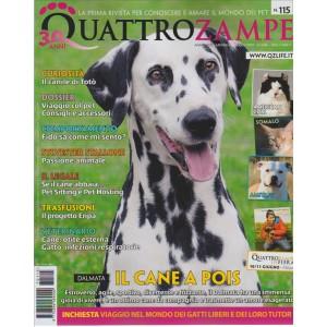 """Quattro Zampe mensile n. 115 Giugno 2017 """"Dalmata il Cane a Pois"""""""
