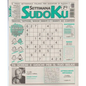 Settimana Sudoku - n. 616 - 2 Giugno 2017