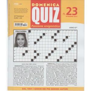 Domenica Quiz (passione enigmistica)  - settimanale n. 23 - 8 giugno 2017