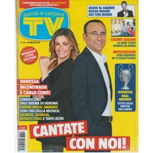 """Sorrisi e Canzoni Tv-settimanale n.23-3 Giugno 2017""""Vanessa Incontrada e Conti"""""""