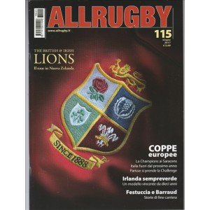 "All Rugby - mensile n. 115 Giugno 2017 ""Coppe europee"""