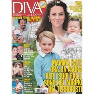 """Diva e Donna  - settimanale n. 24 - 20 Luglio 2017 """"Brignano con la figlia"""""""