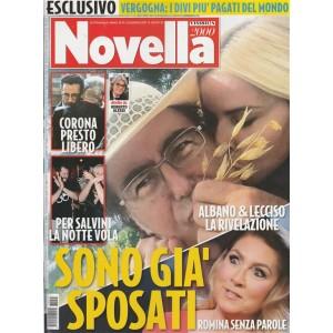 """Novella 2000 - settimanale n. 25 - 22 Giugno 2017 """"Albano e Lecciso già sposati"""""""
