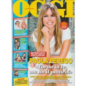 """Oggi - settimanale n. 27 - 29 giugno 2017 """" Paola Perego - torno in TV"""""""