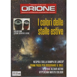 """Nuovo Orione - mensile n. 302 Luglio 2017 """"I colori delle stelle estive"""""""
