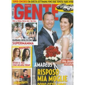 Gente - settimanale n. 27 - 11 Luglio 2017 Amadeus: risposo mia moglie
