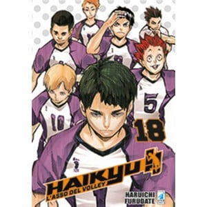 "Manga: HAIKYU!! ""l'asso del volley"" #18 - Star Comics collana Target #71"