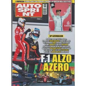 Autosprint - settimanale n. 26 - 27 Giugno 2017 - GP Azerbajian - dispetti...