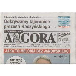 Angora - settimanale (in linua polacca) n. 26 - 19 Giugno2017
