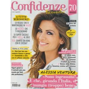 Confidenze - settimanale n. 28 - 4 Luglio 2017 Alessia Ventura sono ingrassata?