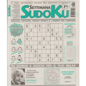 Settimana Sudoku - n. 621 - 7 Luglio 2017
