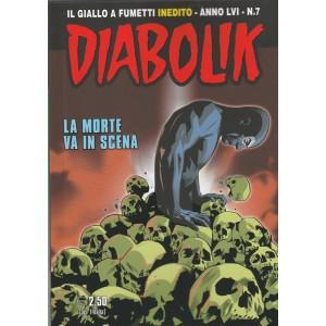 """Diabolik - mensile n. 7 Luglio 2017 """"la morte va in scena"""""""
