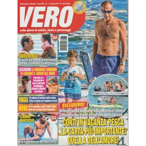 Vero - settimanale n. 31 - 10 Agosto 2017 - Carlo Conti in vacanza