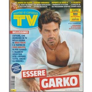 Sorrisi e Canzoni Tv - settimanale n. 34 - 15 Agosto 2017 - Essere Garko...