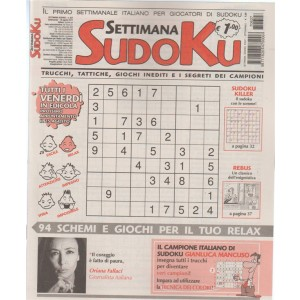 Settimana Sudoku - n. 627 - 18 Agosto 2017