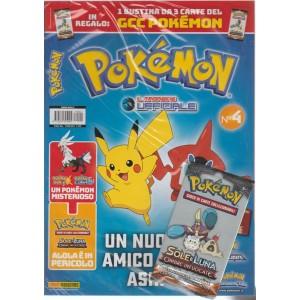 Pokemon Magazine - bimestrale n. 4 - Agosto 2017 + butina 3 Carte Sole e Luna
