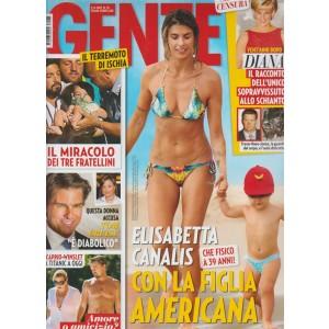 Gente - settimanale n. 35 - 5 Settembre 2017 - Elisabetta Canalis con la figlia