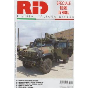 """RID """"rivista italiana difesa""""-mensile n.9 Settembre 2017-speciale Russi in Siria"""