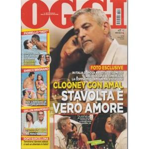 """Oggi - settimanale n. 36 - 31 Agosto 2017 George Clooney e Amal """"è vero amore"""""""