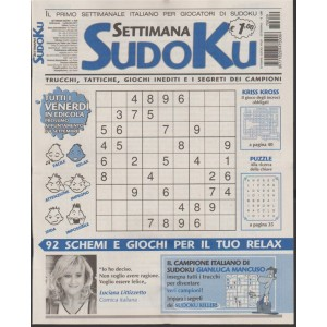 Settimana Sudoku - n. 629 - 1 Settembre 2017