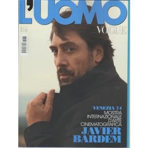 L'uomo Vogue - mensile n. 483 Settembre 2017 - Javier Bardem