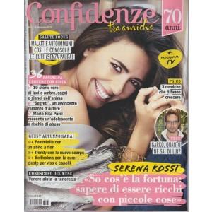 Confidenze - settimanale n. 35 - 5 settembre 2017 Serena Rossi e la fortuna