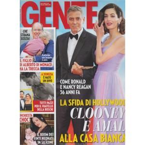 Gente - settimanale n. 37 - 19 Settembre 2017 - Clooney e Amal alla Casa Bianca?